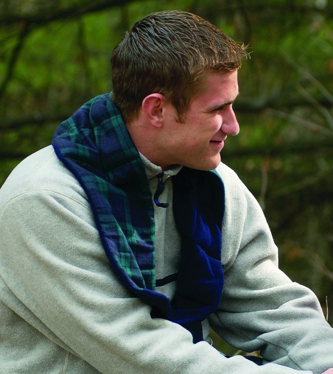 Heatable Nor'easter Scarf Provides Soothing Warmth for up to 30 Minutes after Heating in Microwave.