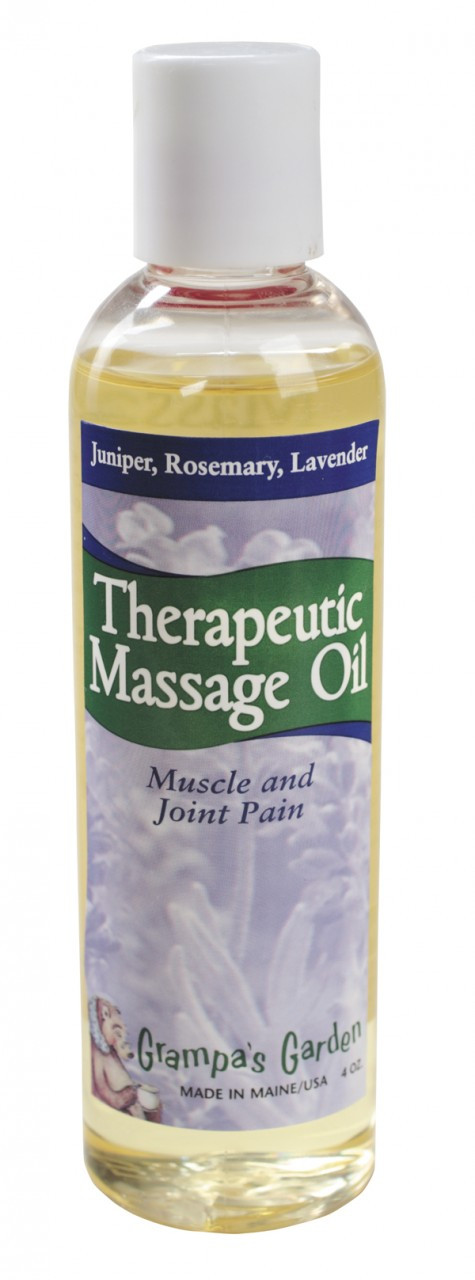 Therapeutic Massage Oil Muscle and Joint Pain Relief 4 OZ - Made in Maine