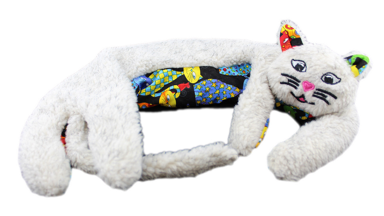 Weighted Washable Kitty Kuddles - Oatmeal Berber / Happy Cats Belly