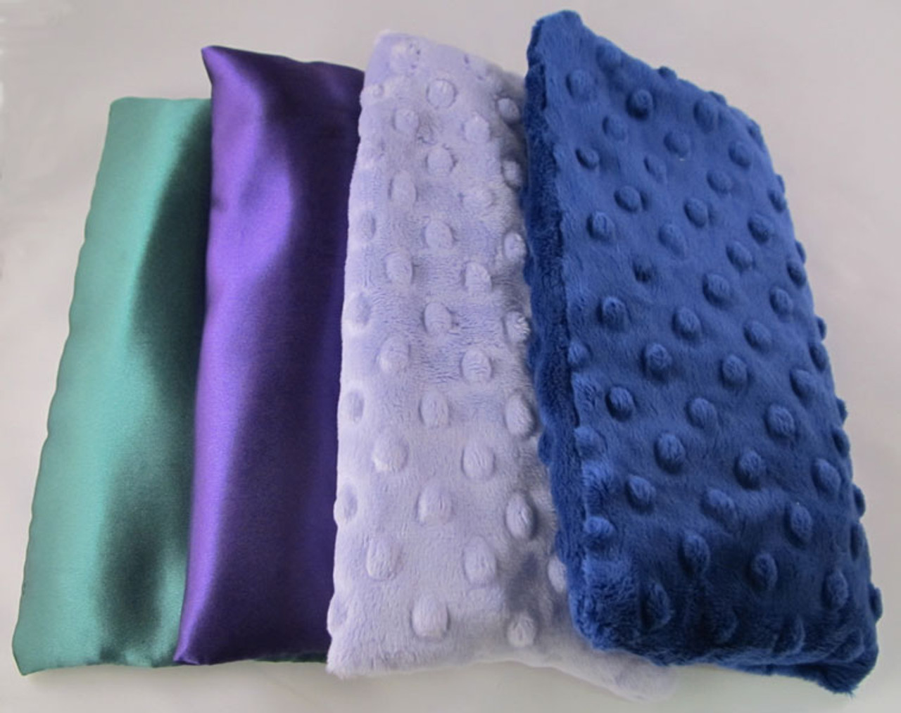 Sleepy Time Pillows - Lavender Throw Pillow Available in Green Satin, Purple Satin, Purple or Navy Oh-So-Soft Dot.