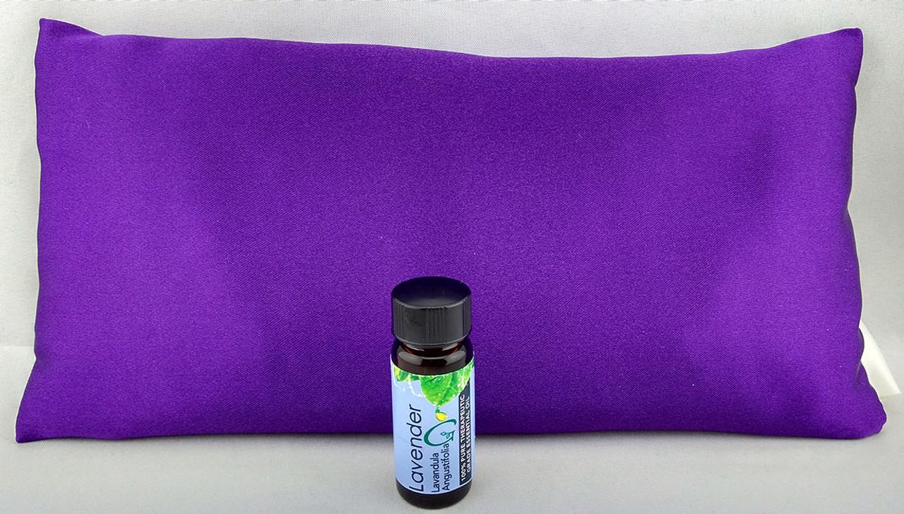 Purple Satin Sleepy Time Pillow - Lavender Throw Pillow by Grampa's Garden
