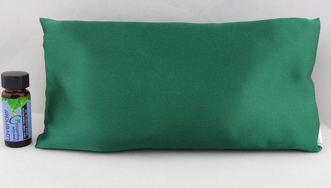 Green Satin Sleepy Time Pillow