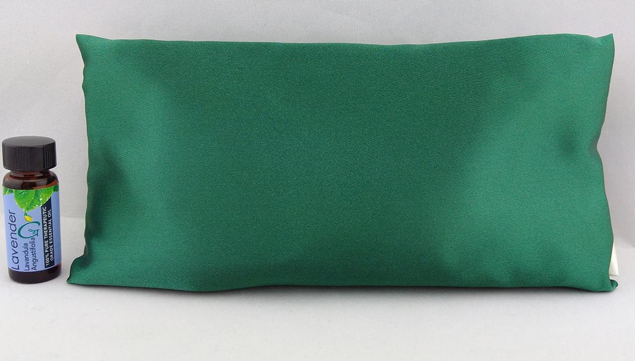 Green Satin Sleepy Time Pillow