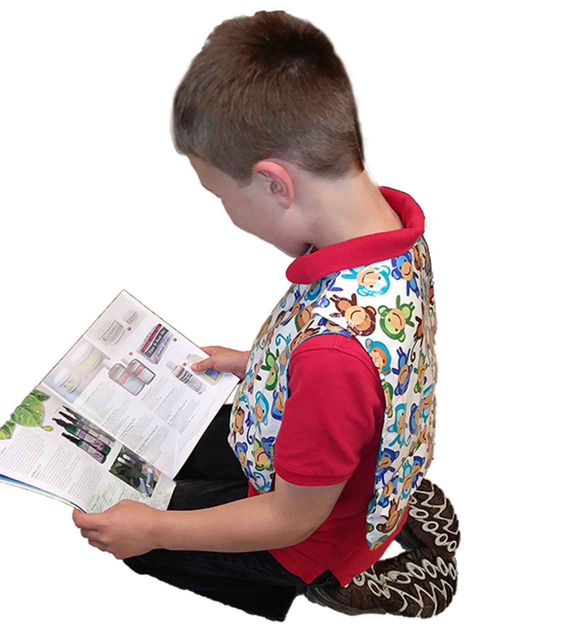 Weighted Washable Vest for Kids with Sensory Integration, Focusing, Relaxing, More. Made in Maine USA by Grampa's Garden