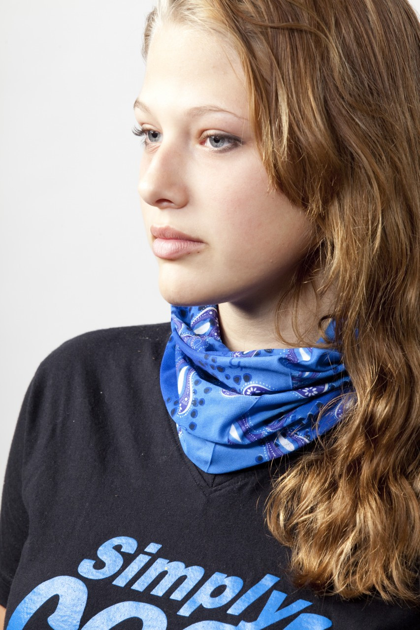 Cooling Neck Wrap, Bandana, Headband. Soak in water, wring, snap it for cooling relief
