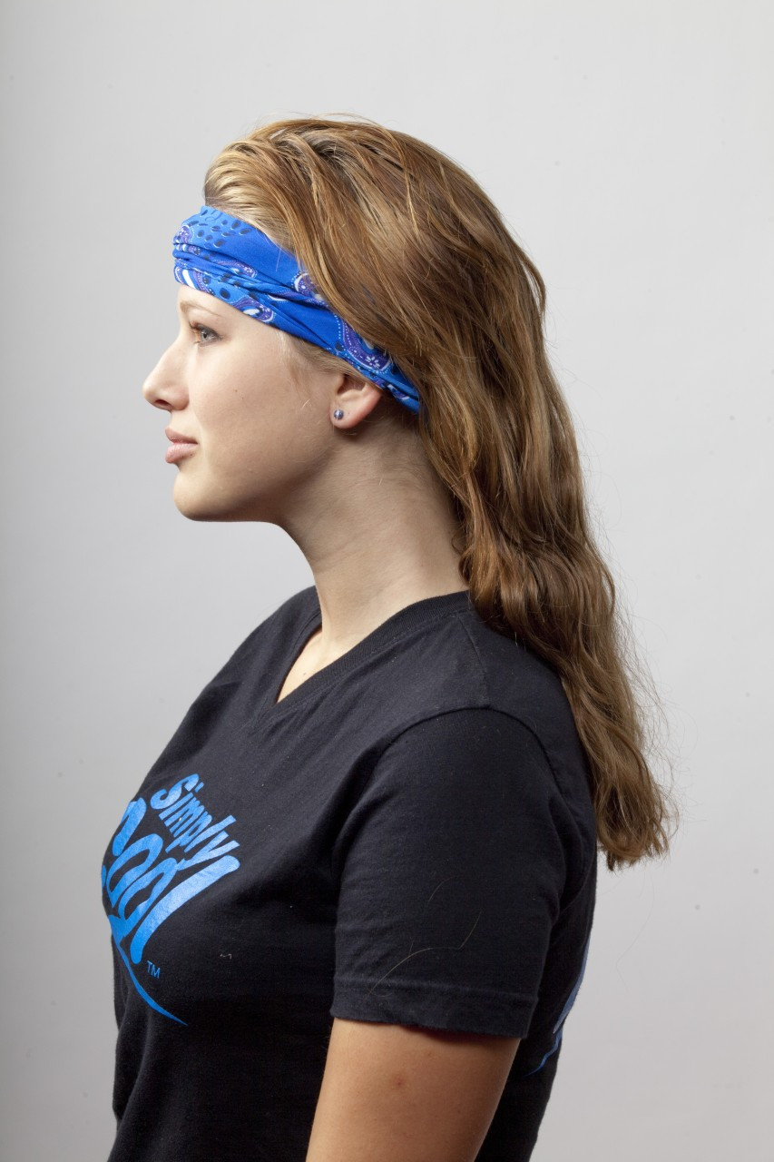 Simply Cool Chill Tube can be worn as a Head Band