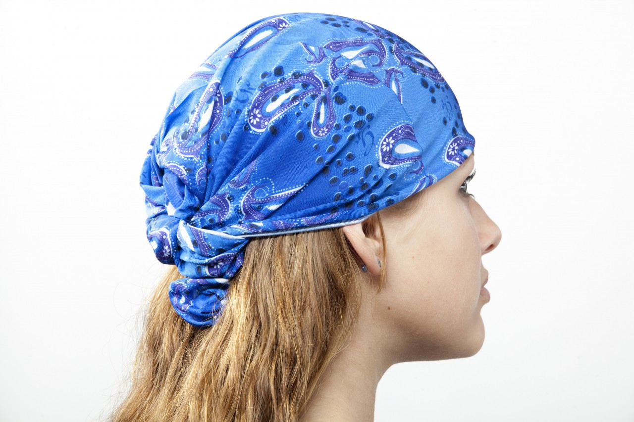 Simply Cool Chill Tube can be worn as a Skull Cap / Bandana