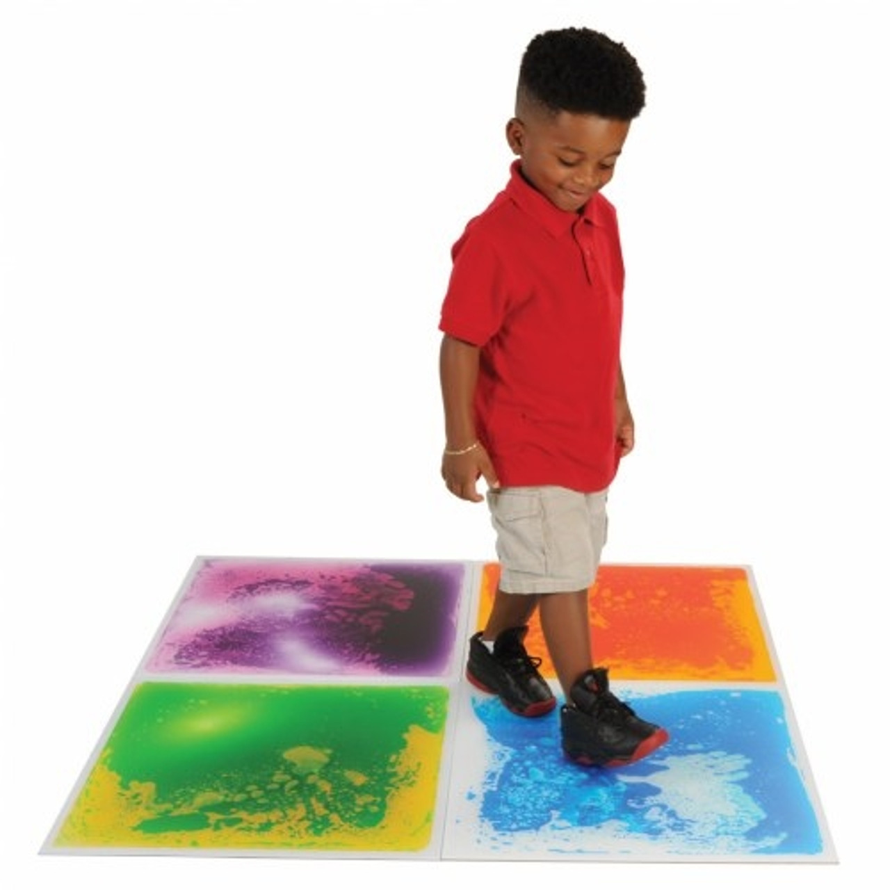 Fun Sensory Floor Tiles - Liquid Filled