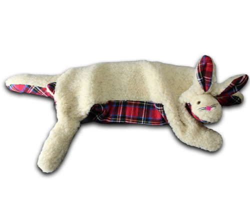 Oatmeal Berber & Royal Stewart Plaid Hot or Cold Bunny Wrap - Microwave or Freeze