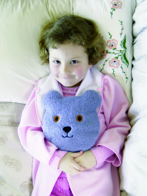 Blue Berber Teddy Pack Eyes Opened - Microwavable, Washable