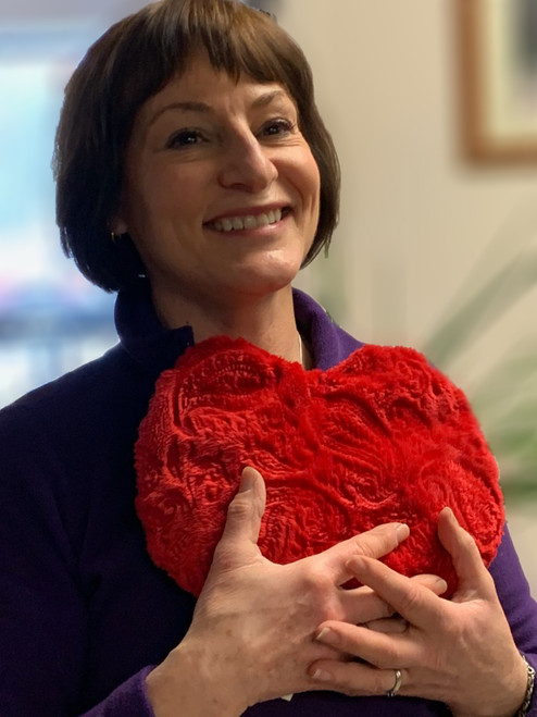 "11"" Red Plush Heart"
