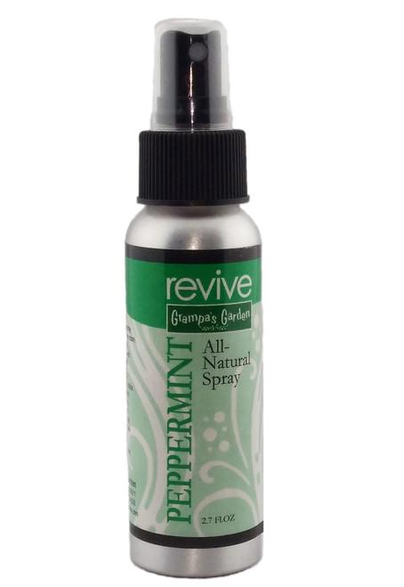Peppermint Room Spray - Natural Essential Oil Spray 2.7 FL OZ by Grampa's Garden