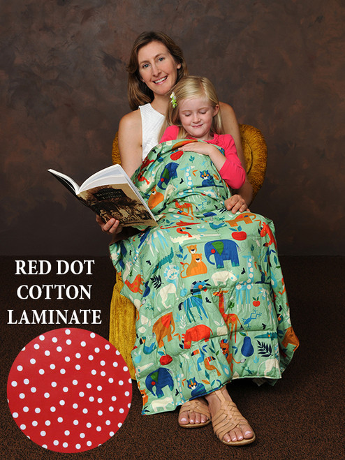 Weighted Washable Body Blanket - 42x56 - 7 LB - Red Dot Laminate