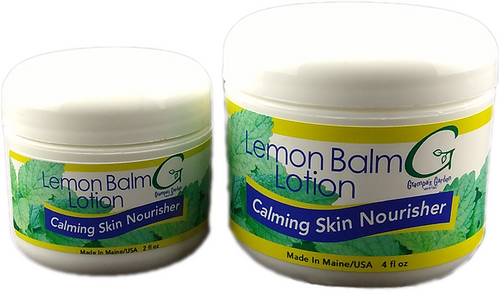 Lemon Balm Lotion Calming Skin Nourisher 4 fl oz by Grampa's Garden Made in Maine USA