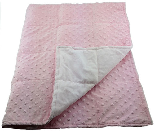 10 LB Weighted Blanket – Pink - Washable - OUTLET SALE