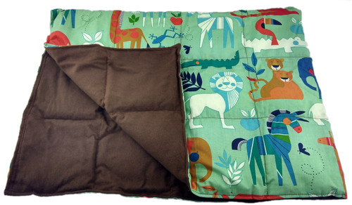 25 LB Weighted Blanket – Zoo Animals - Washable - OUTLET SALE