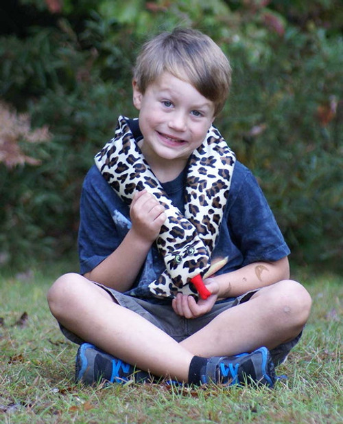 Weighted Washable Snuggle Snake – Leopard - OUTLET SALE