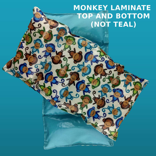 Weighted Washable Lap Pad - 2 LB - Monkey Laminate Fabric - OUTLET SALE
