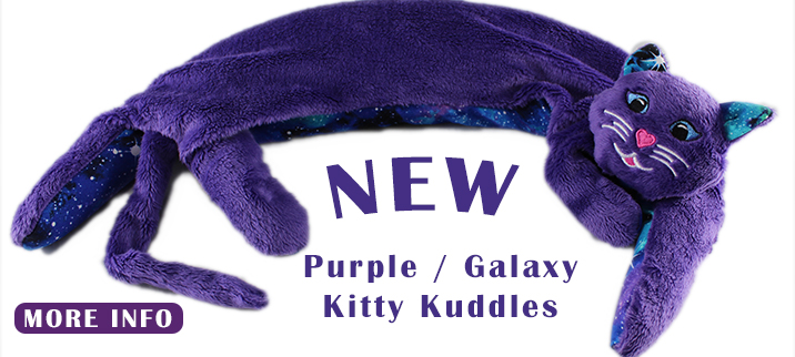 Kitty Kuddles - Purple with Galaxy - NEW