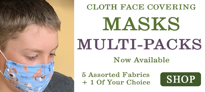 Multi-Pack Face Covering Masks Now Available