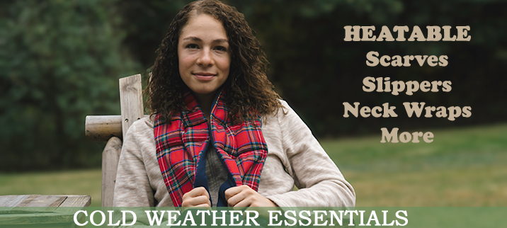 Cold Weather Essentials - Heatable Scarves, Slippers, Neck Wraps and More