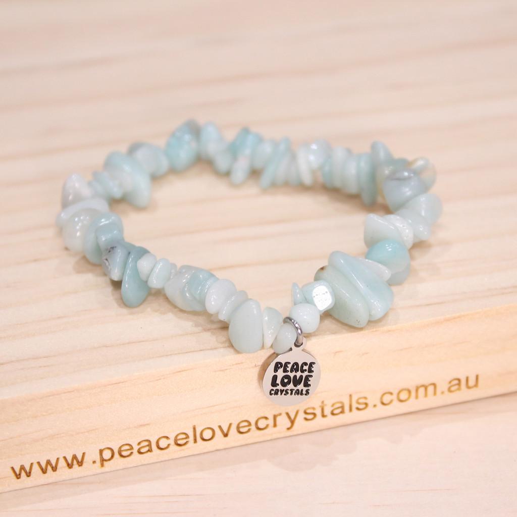 Amazonite Chip Bracelet