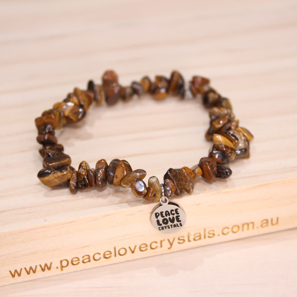 Gold Tiger Eye Chip Bracelet