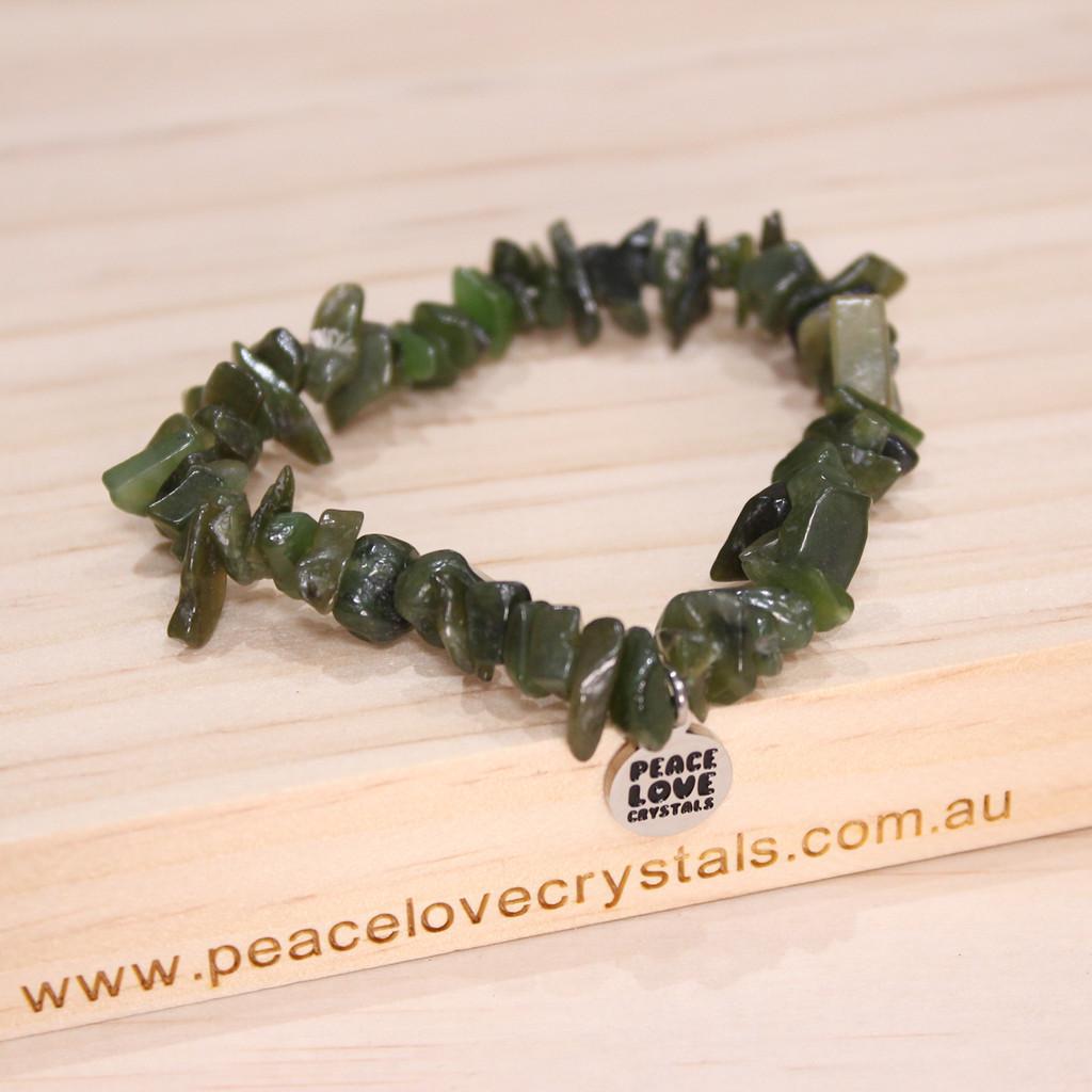 Nephrite Jade Chip Bracelet