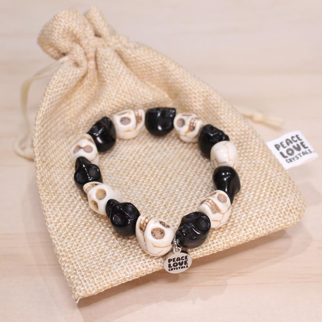 Black and White Skull Bracelet