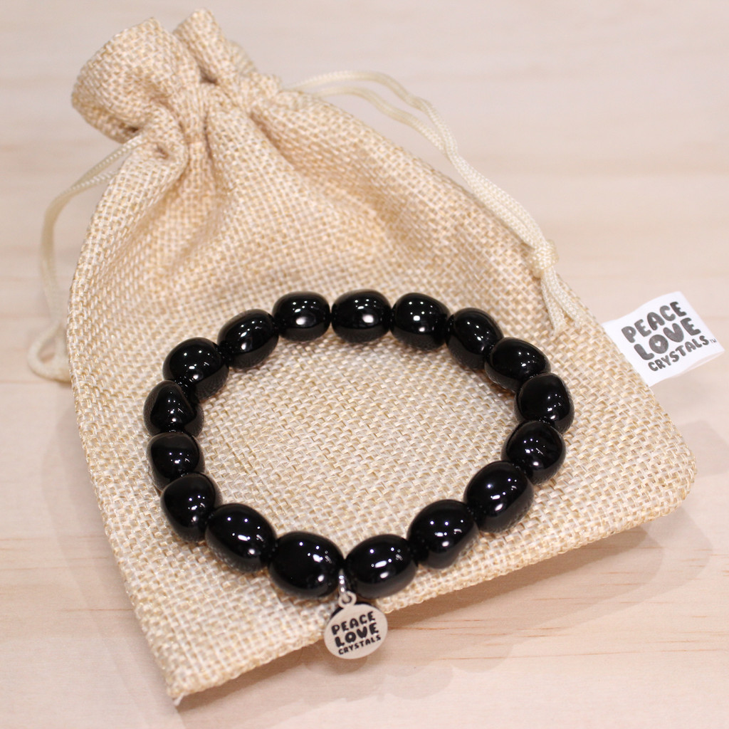 Black Obsidian Pebble Bracelet
