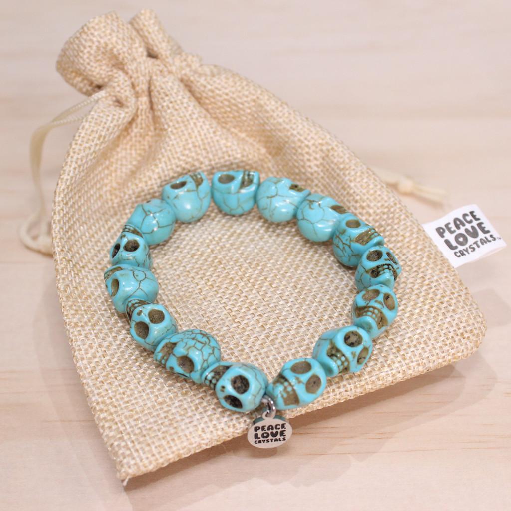 Blue Skull Bracelet
