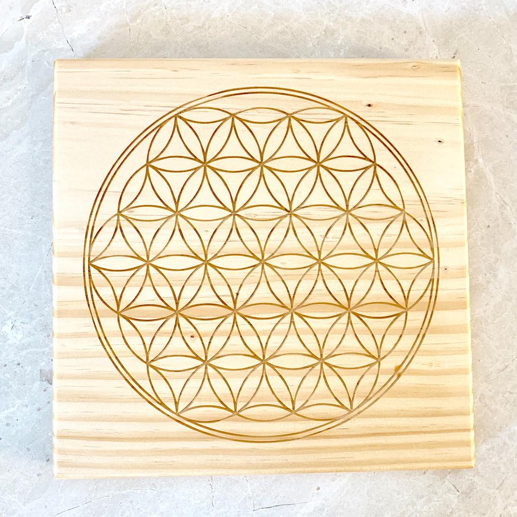 Flower of Life Sacred Geometry Crystal Grid 24cm