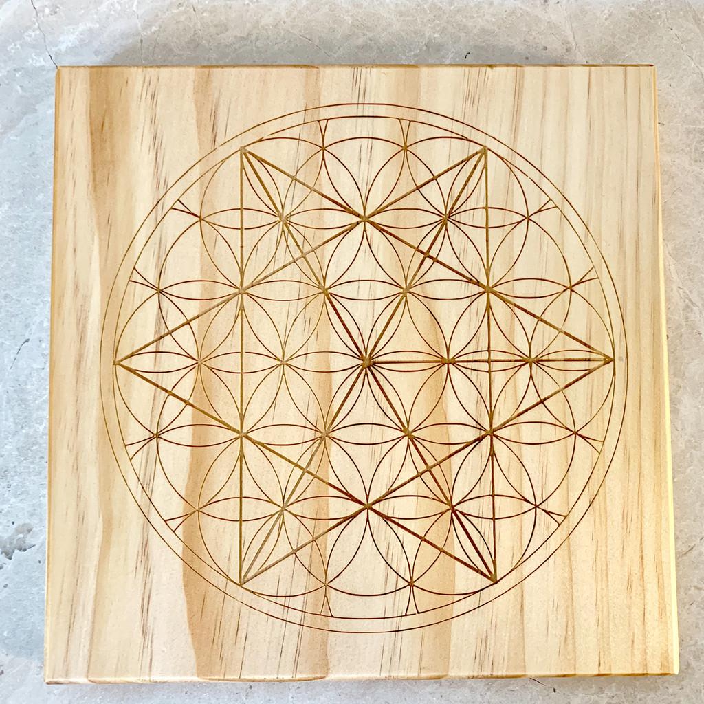 Merkaba Sacred Geometry Crystal Grid 24cm