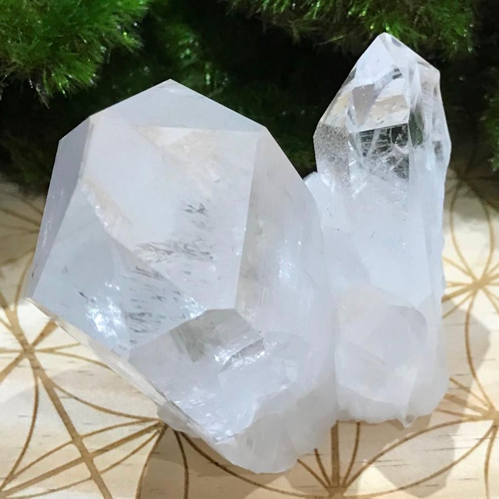 Clear Crystal Quartz Cluster