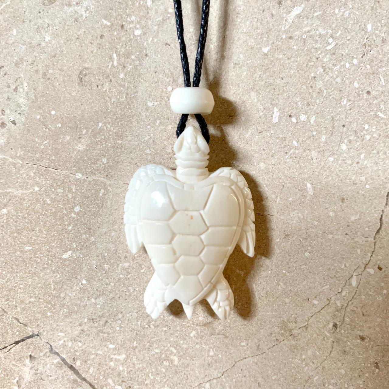 Turtle Bone Pendant Peace Love Crystals