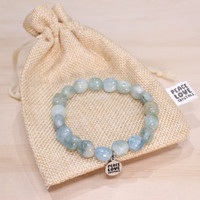 Aquamarine Pebble Bracelet