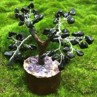 Black Onyx Crystal Tree
