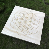 Flower of Life Sacred Unbounded Geometry Crystal Grid