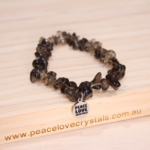 Smoky Quartz Chip Bracelet