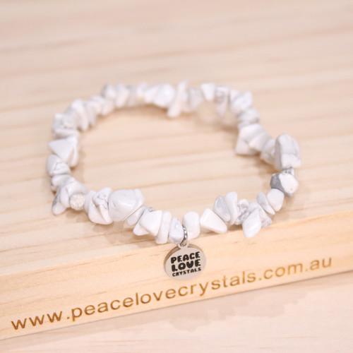 White Howlite Chip Bracelet