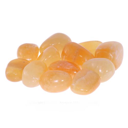 Orange Calcite Tumbled Stones