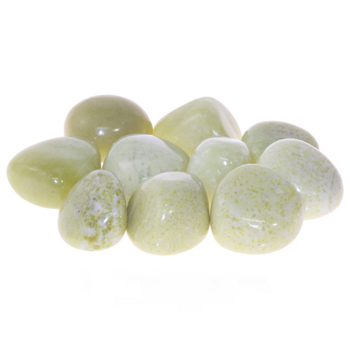 Yellow Serpentine Tumbled Stones