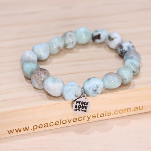 Larimar Pebble Bracelet