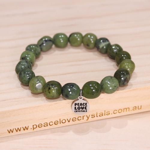 Nephrite Jade Pebble Bracelet