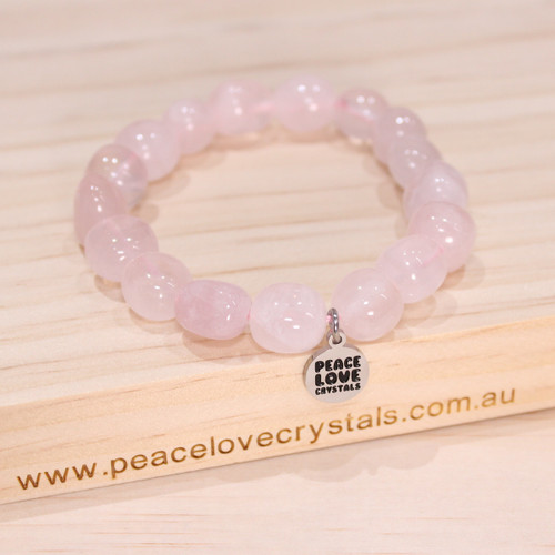 Rose Quartz Pebble Bracelet