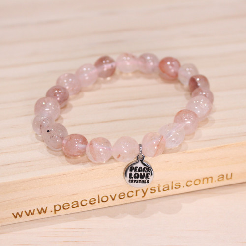 Strawberry Quartz Pebble Bracelet