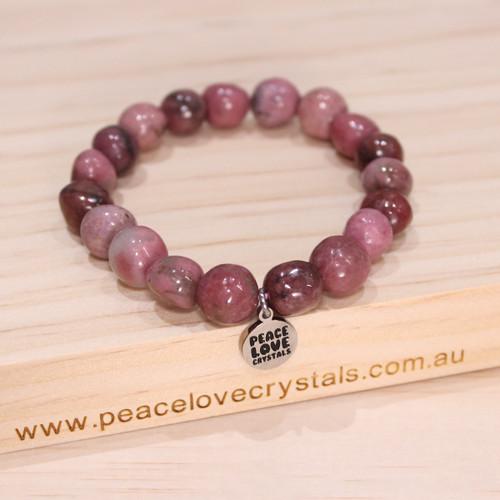 Rhodonite Pebble Bracelet