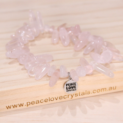 Rose Quartz Frill Bracelet