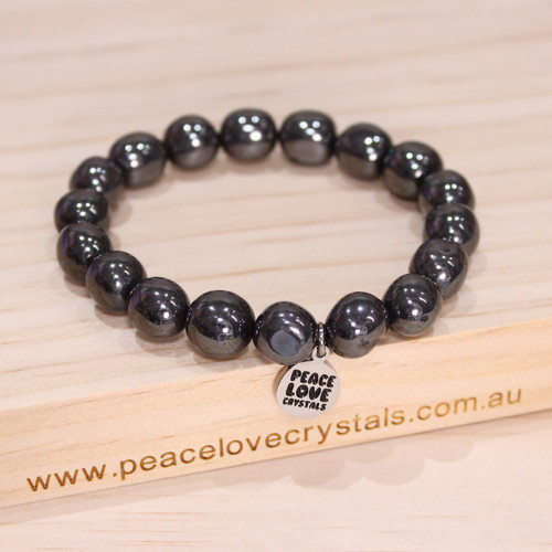 Hematite Pebble Bracelet