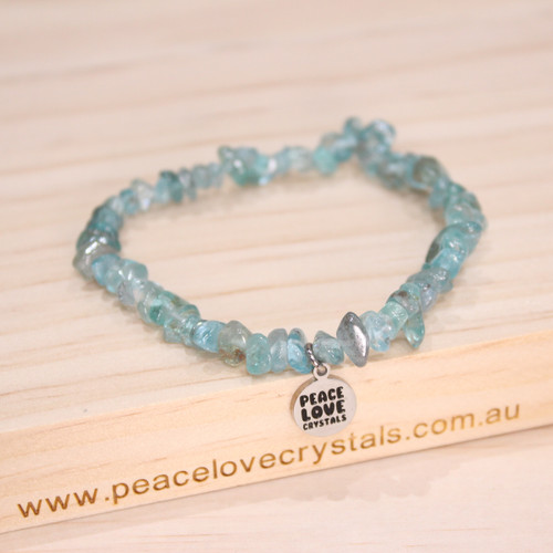 Light Blue Apatite Chip Bracelet